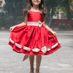 Flutterbows Kids Pretty Red Frock