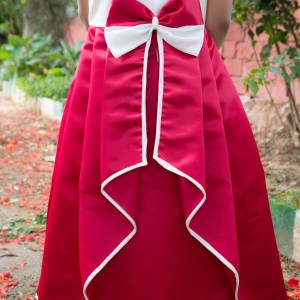 Flutterbows Kids Red Gown