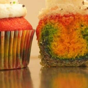 Great Escake Rainbow Cupcake