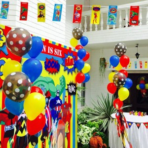 Happyness Super Hero Theme Backdrop