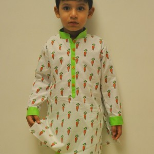 Little Stars Ethnic Kurtas with Carrot design