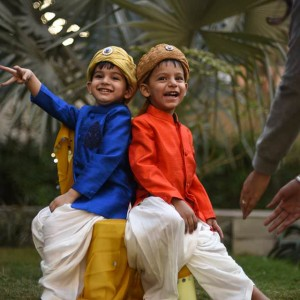 Little Stars Ethnic Silk Dhoti Kurtas for Boys