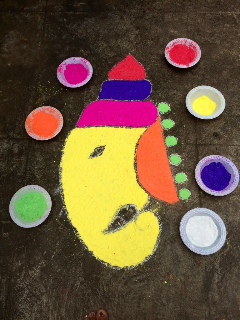 5 Easy Rangoli Designs For Ganesh Chaturthi Buzzingbubs