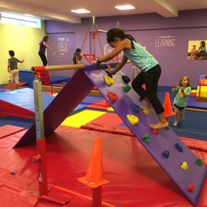 The Little Gym Kids Obstacle Climb