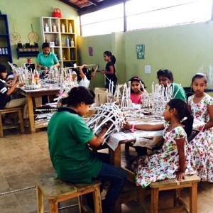 The Spinning Kids Learning to make Baskets