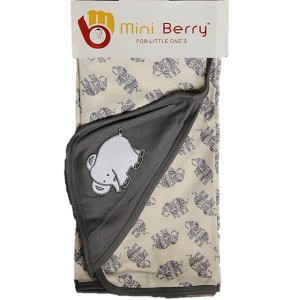 Bambino Miniberry Towel Grey