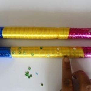 How to make dandiya sticks at home
