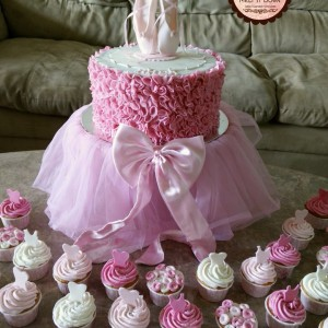 Melt It Down Ballerina Cake