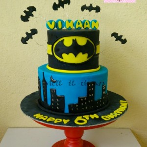 Melt It Down Batman Cake