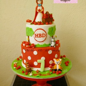Melt It Down Lile Red Riding Hood Cake