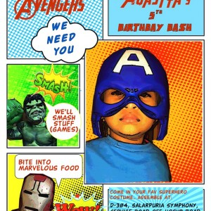 Party Makers Avengers Theme Party Invite