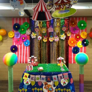 Party Makers Circus Theme Backdrop Decor