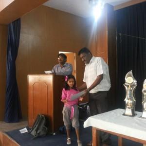 Bangalore Chess Academy Awarding Students