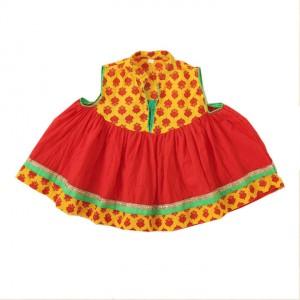 Little Pockets Store Red Anarkali