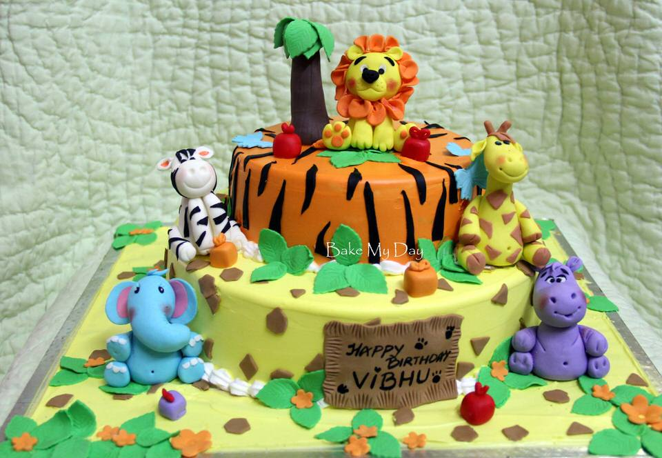 Birthday Cake Ideas Jungle Theme Image Inspiration of Cake and