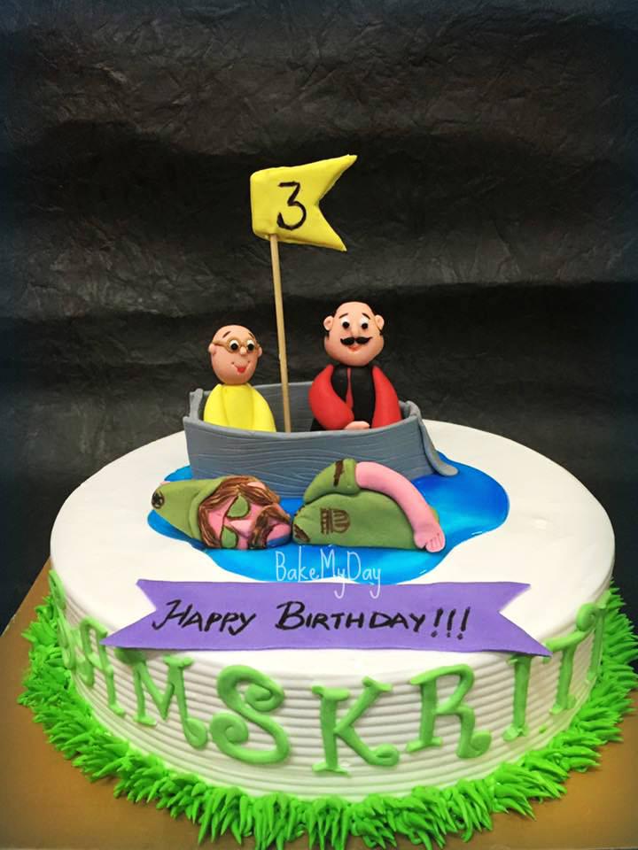 Birthday Cake Images Motu Patlu : BakeMyDay, JP Nagar, Bangalore