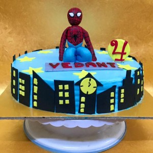 BakeMyDay-Spiderman-Themed-Birthday-Cake