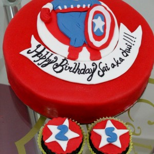 Cake My Heart-Captain America Cake