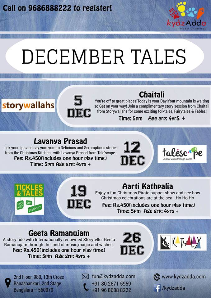 December tales for 13th floor bangalore contact number