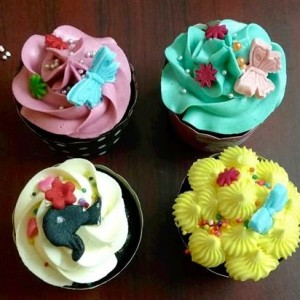 Smitha's Cake Hive Barbie Cupcakes