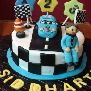 Smitha's Cake Hive Disney Race Car Cake