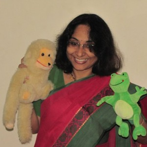 Katharangam Story session with puppets
