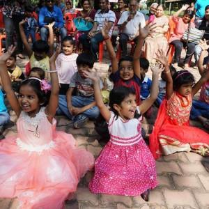 Katharangam kids enjoying the stories