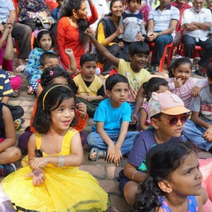 Katharangam session with kids