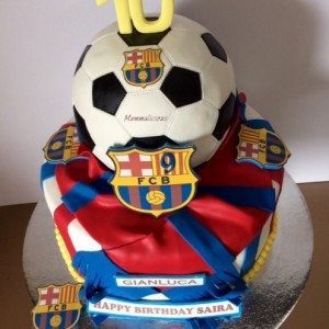 Mummalicious Football Cake