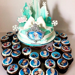 Mummalicious Frozen Themed Cake