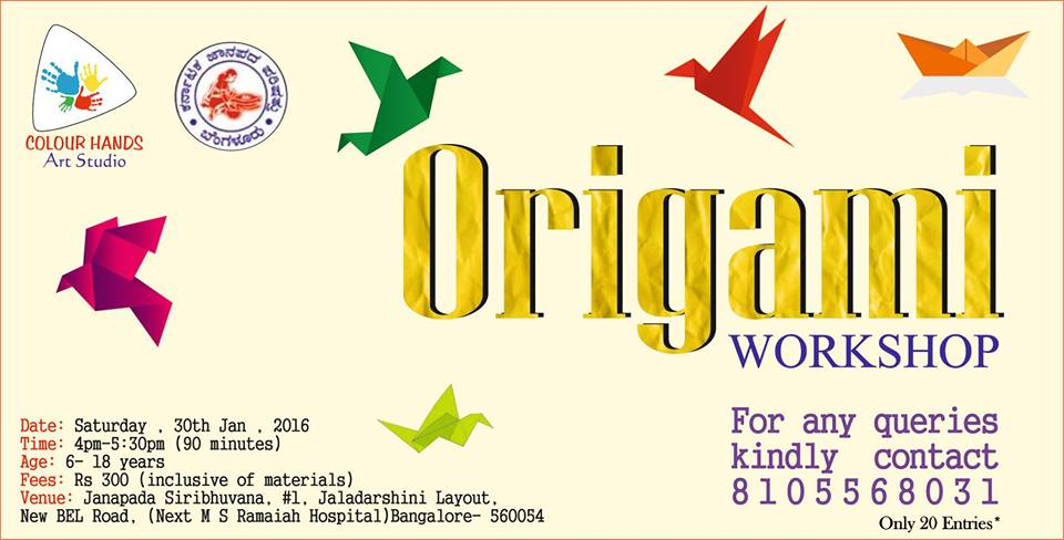 origami workshop bel road