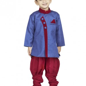 BownBee_blue_red_sherwani_breeches_suit