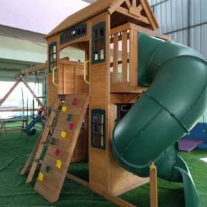 Wooden House at PlayGym