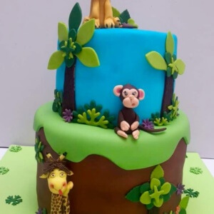 Jungle Themed Cake
