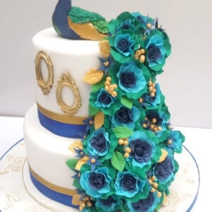 Peacock Cake by Itz Yumm
