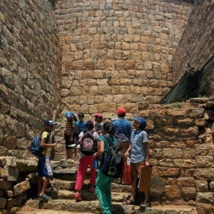 Kids visiting the Devanahalli Fort