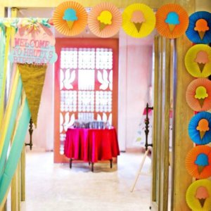 Ice cream theme Welcome Board, Fiestaa Events