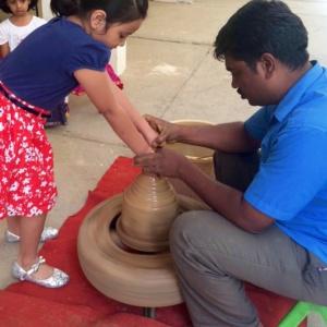 Pottery Activity at Birthday Party