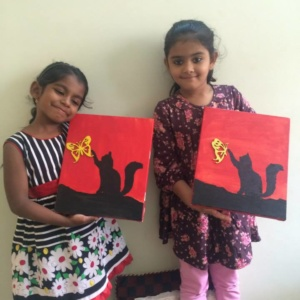 Kids showing their creativity