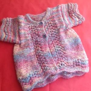 Hand Knit Baby Woollen Frock