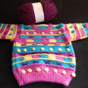 Pink Baby Sweater by Cheerful Handknits