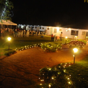 Embassy International Riding School at Night