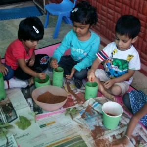 Gardening Session at Karve Preschool