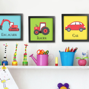 Kids Shelf Art Work