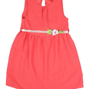 Peach Dress with White Belt