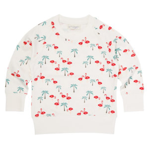 Girls Sweatshirt Flamingo Print