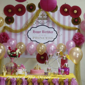 Pink and Gold Birthday Party Theme