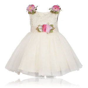 White Floral Dress for Girls