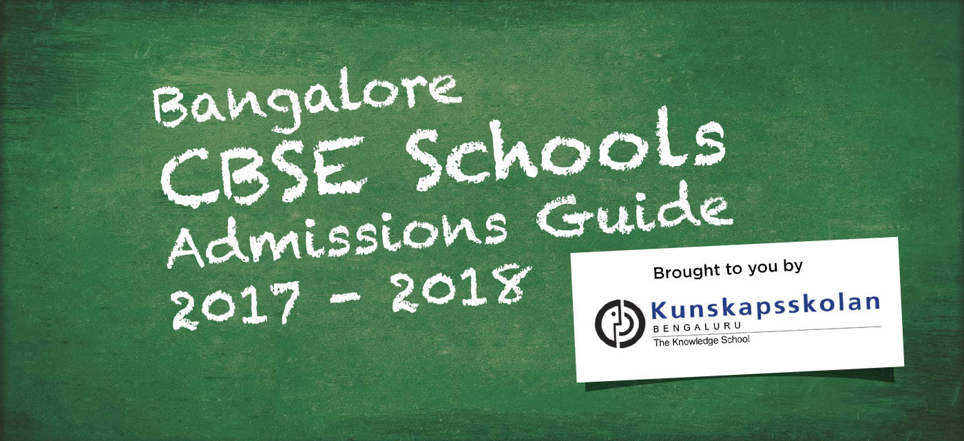 Bangalore CBSE Schools Admission Guide 2017-18 Cover Image