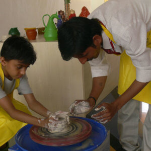 Learning Pottery at Redbridge International Academy